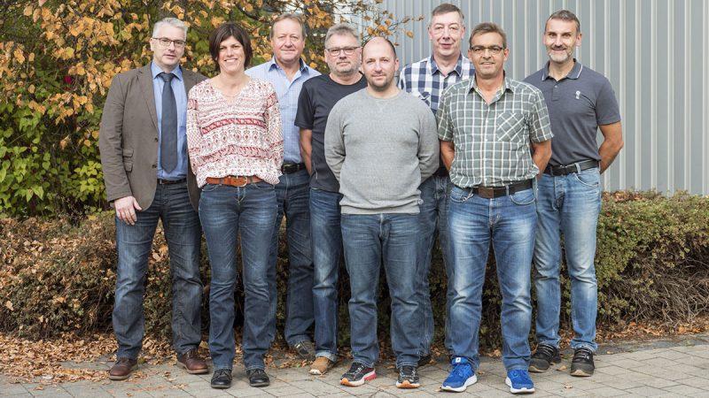 Der größte Teil des Laborteams rund um Interviewpartner Matthias Schamm. (links im Bild)
