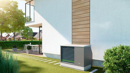Modulierende x-change® dynamic AW E Luft / Wasser-Wärmepumpe Außenaufstellung