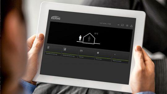 Die Wärme im eigenen Zuhause steuern wann man will und wo man will – Kermi Smart Home macht's möglich.
